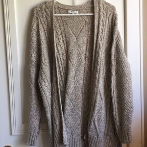 Madewell Long Cable Knit Cardigan